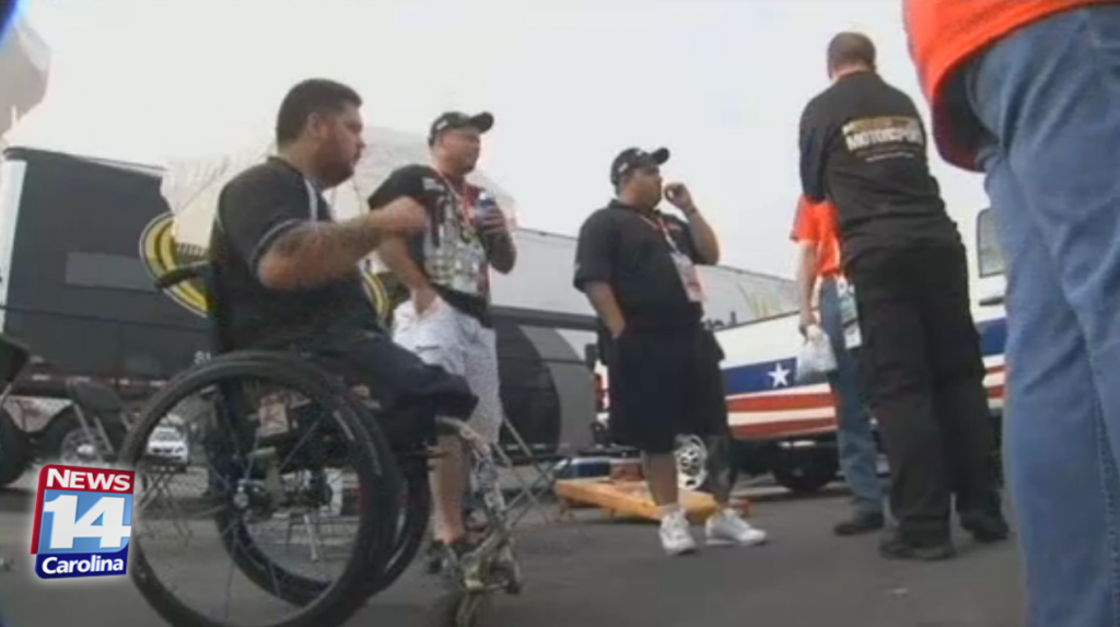 Mission Motorsport hosts wounded service members at Bank of America 500